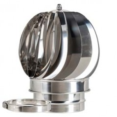 Rotating Cowl dia 150mm Silver